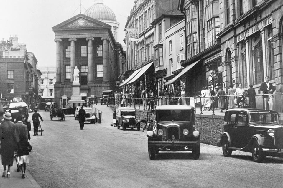 nzance Market Jew Street Cornwall 1930s