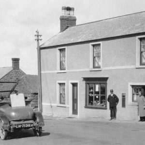 Sennen old Post Office and Car 1925